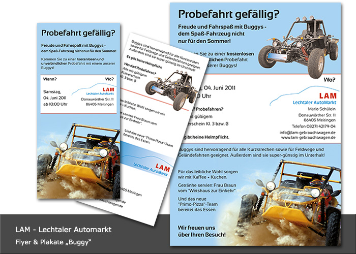 Design Flyer und Zeitungsanzeige LAM