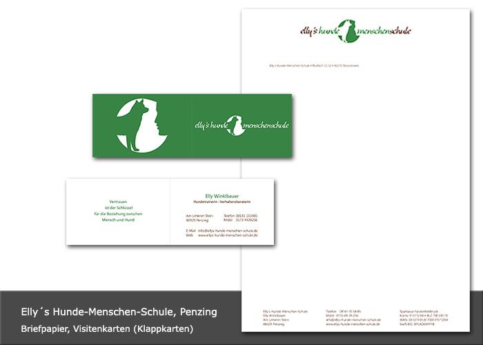 Logoentwicklung, Design Visitenkarten, Briefpapier