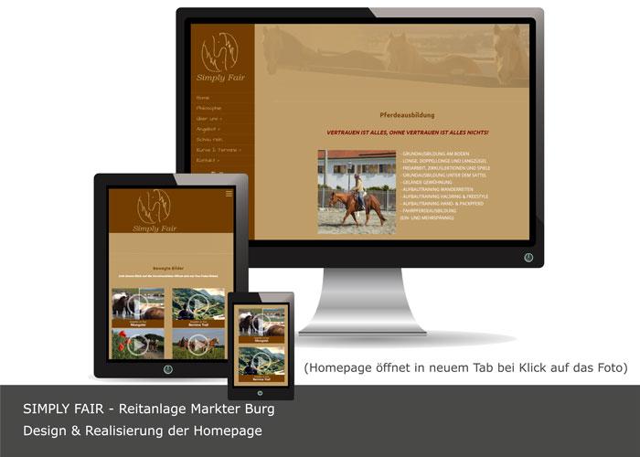 Homepageerstellung Simply-Fair