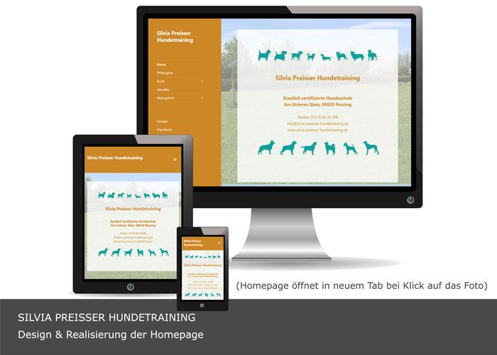 Webdesign Silvia Preisser Hundetraining