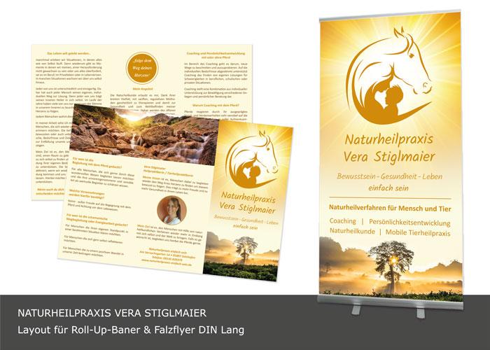 Flyerdesign, Roll-UP-Display Naturheilpraxis