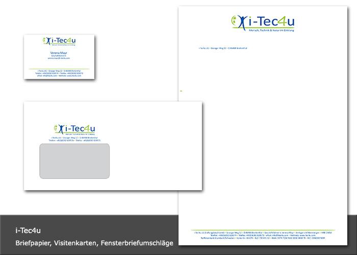 Gestaltung Briefpapier, Visitenkarten, Kuverts