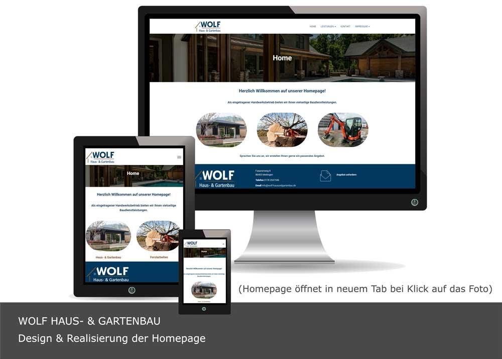 Wolf Bau - Webdesign