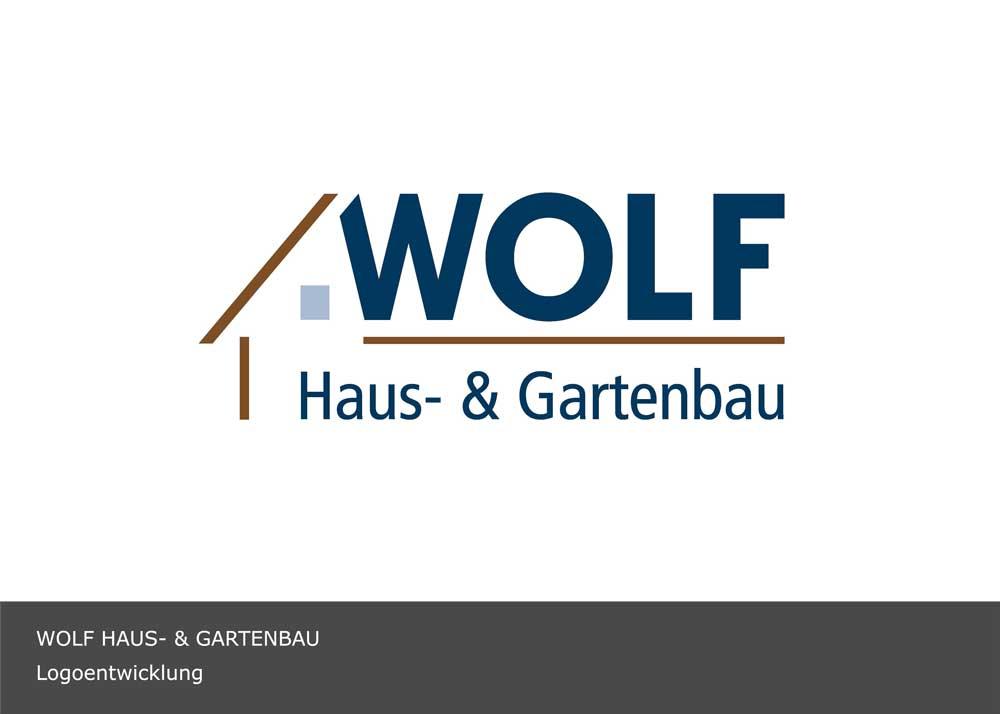 Wolf Bau - Logodesign