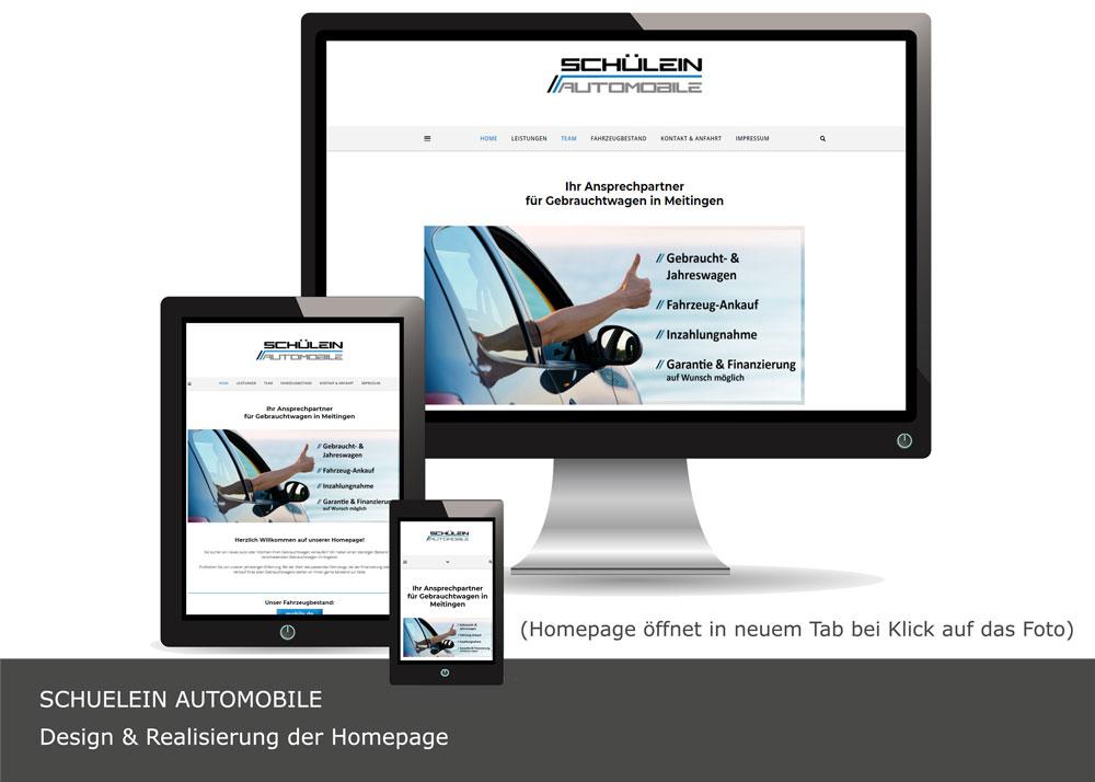 Homepagedesign Schülein Automobile